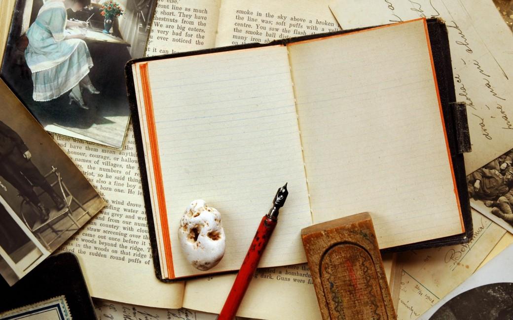 Vintage Notebook Pen Photography Retro Sepia Bar Notebook