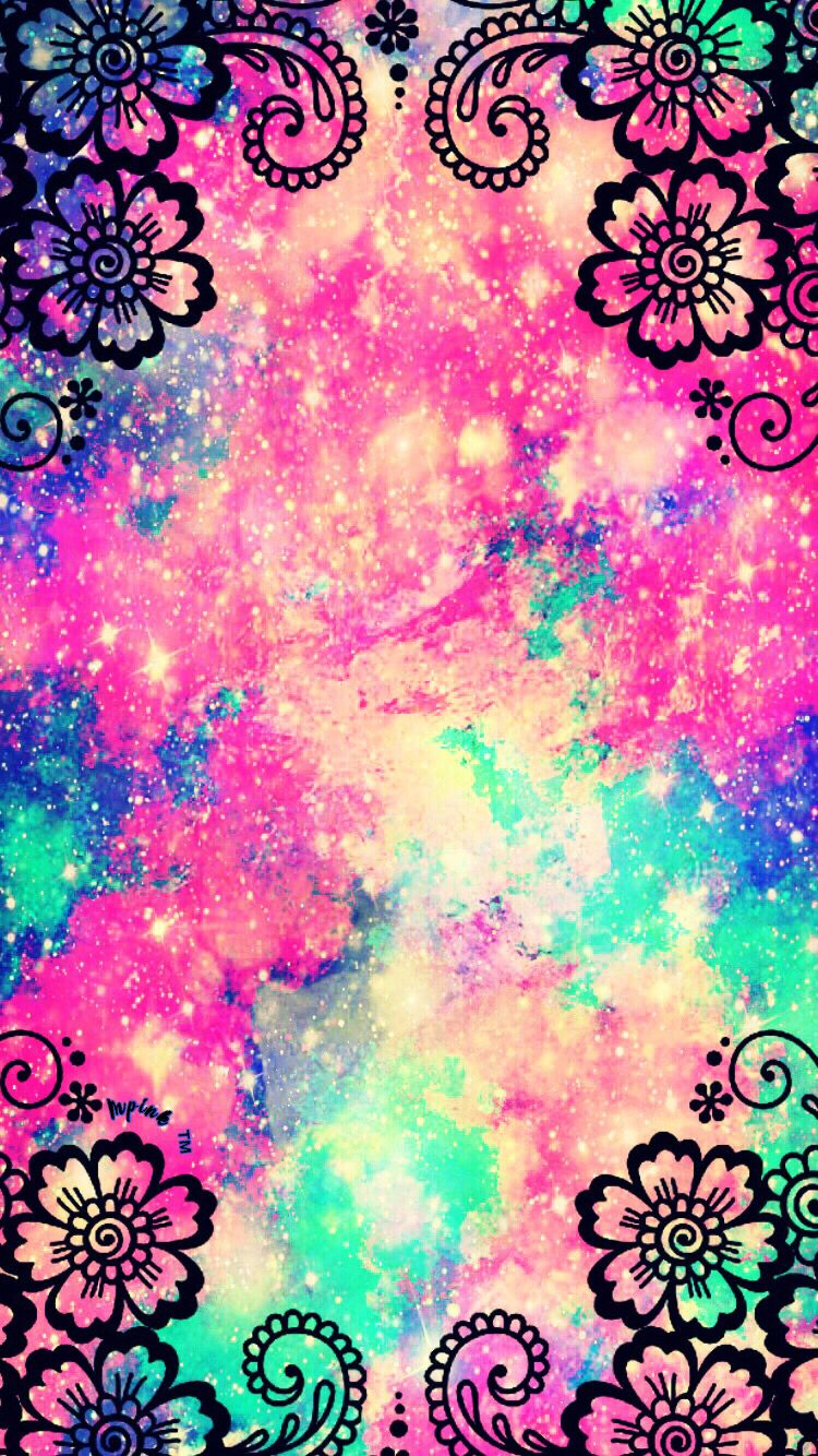 Cute Galaxy Wallpaper - Colorful Girly Backgrounds , HD Wallpaper & Backgrounds
