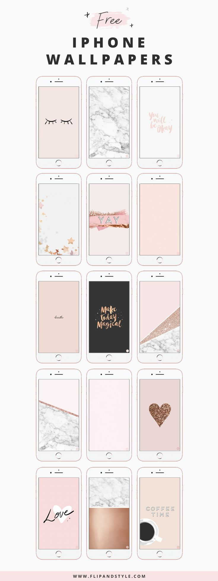 Free Iphone Wallpaper Rose Gold Cute Aesthetic 337946 Hd Wallpaper Backgrounds Download