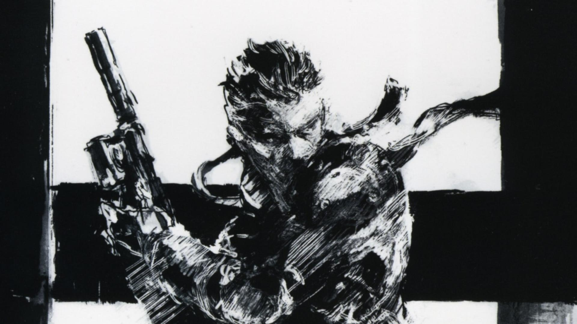 Metal Gear Solid Art Wallpaper Metal Gear Solid Black And White