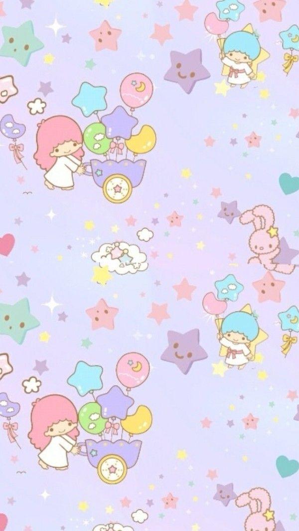 Wallpaper Little Twin Star - Little Twin Stars Purple , HD Wallpaper & Backgrounds