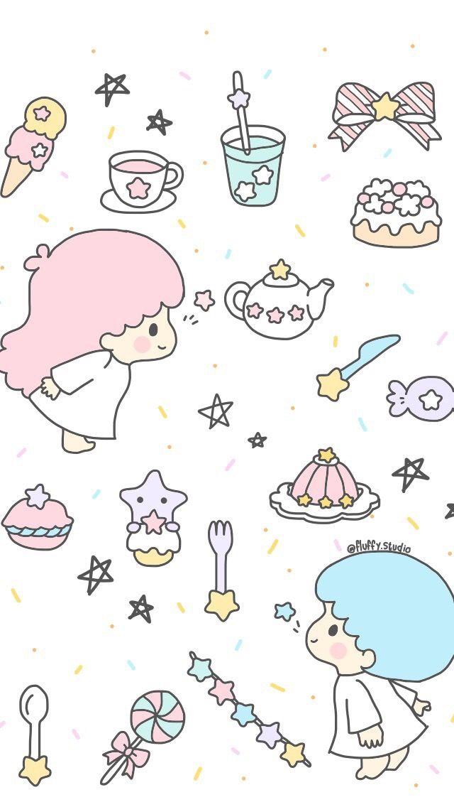 Little Twin Stars ☆ Wallpaper - Little Twin Stars Background , HD Wallpaper & Backgrounds