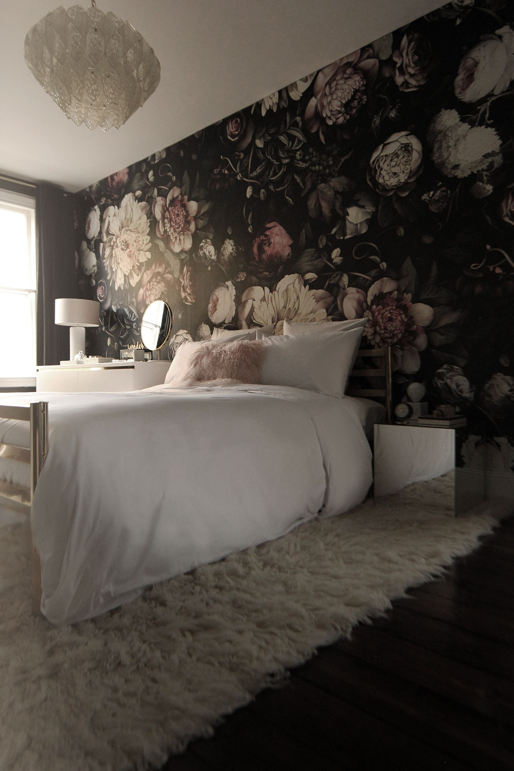 Preciously Me Blog - Dark Floral Wallpaper Bedroom (#341785 ...