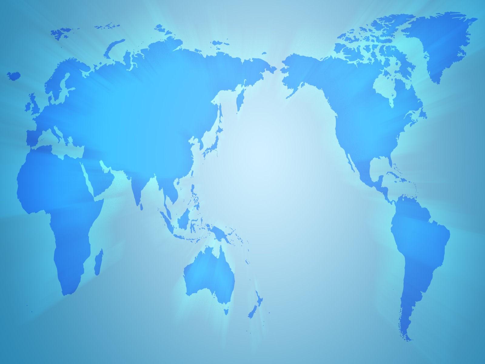 World Map Wallpaper Blue , HD Wallpaper & Backgrounds