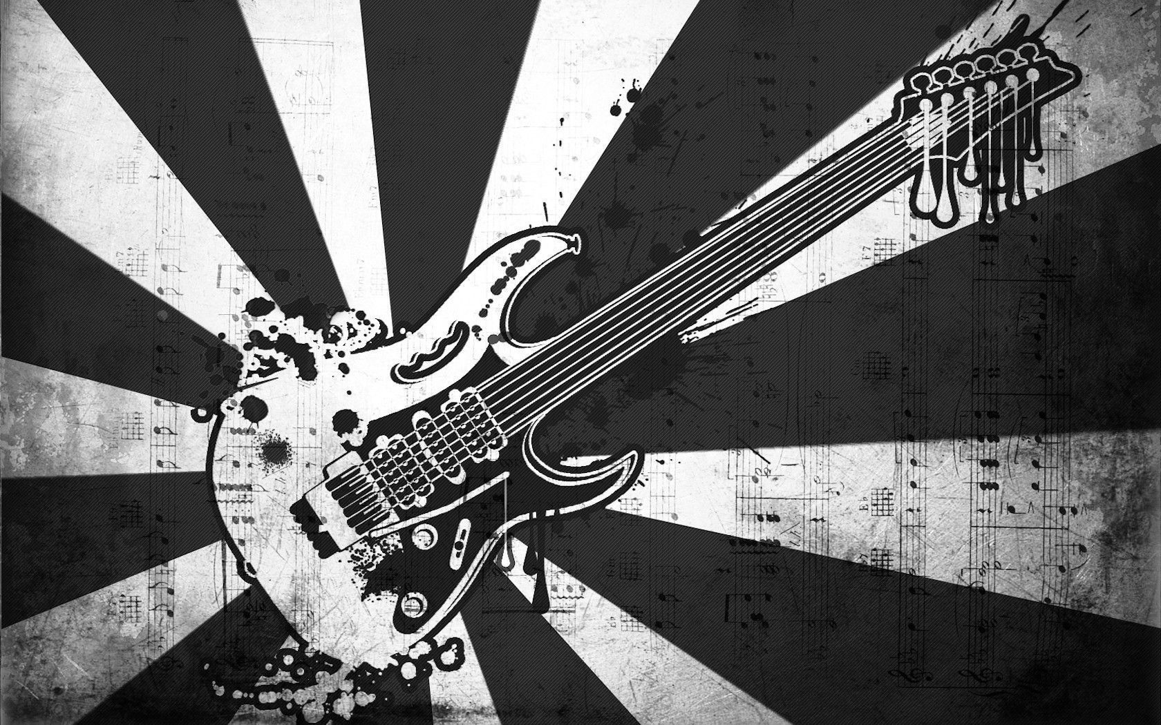 Black - Electric Guitar Art , HD Wallpaper & Backgrounds