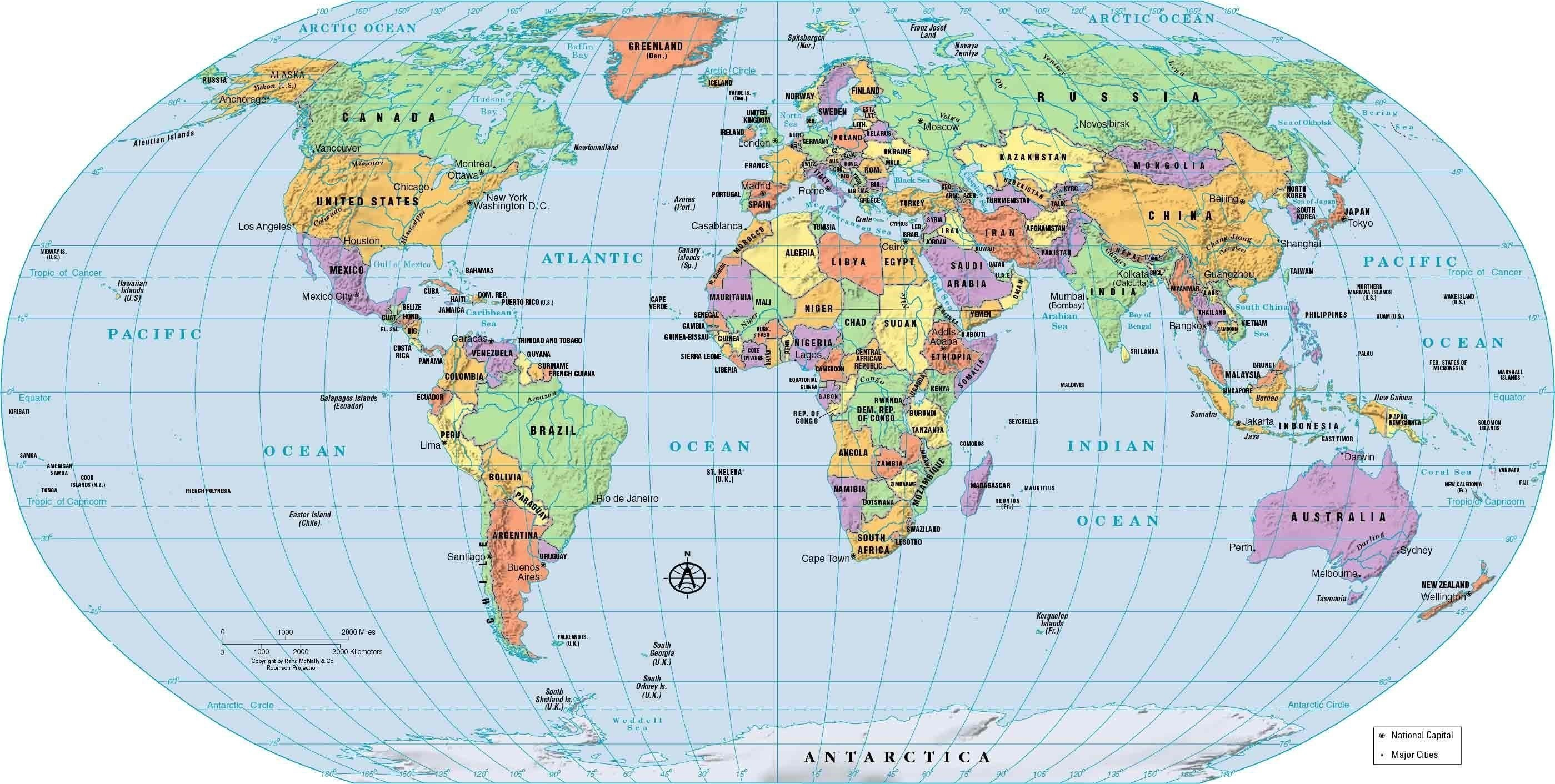World Map Political Country And Capitals Free Download - High Resolution World Map Google , HD Wallpaper & Backgrounds