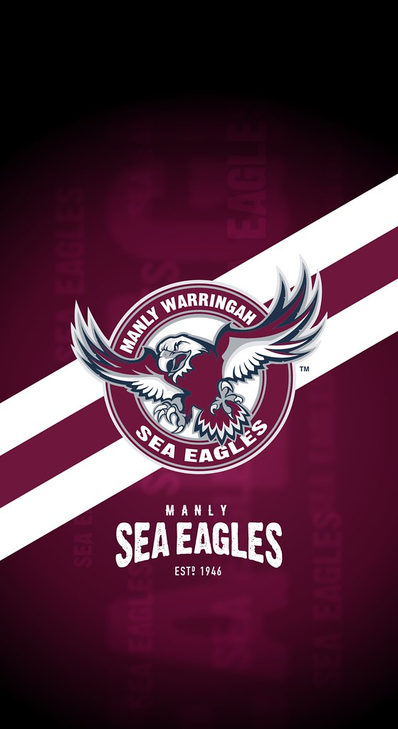 Manly Warringah Sea Eagles Iphone X Lock Screen Wallpaper