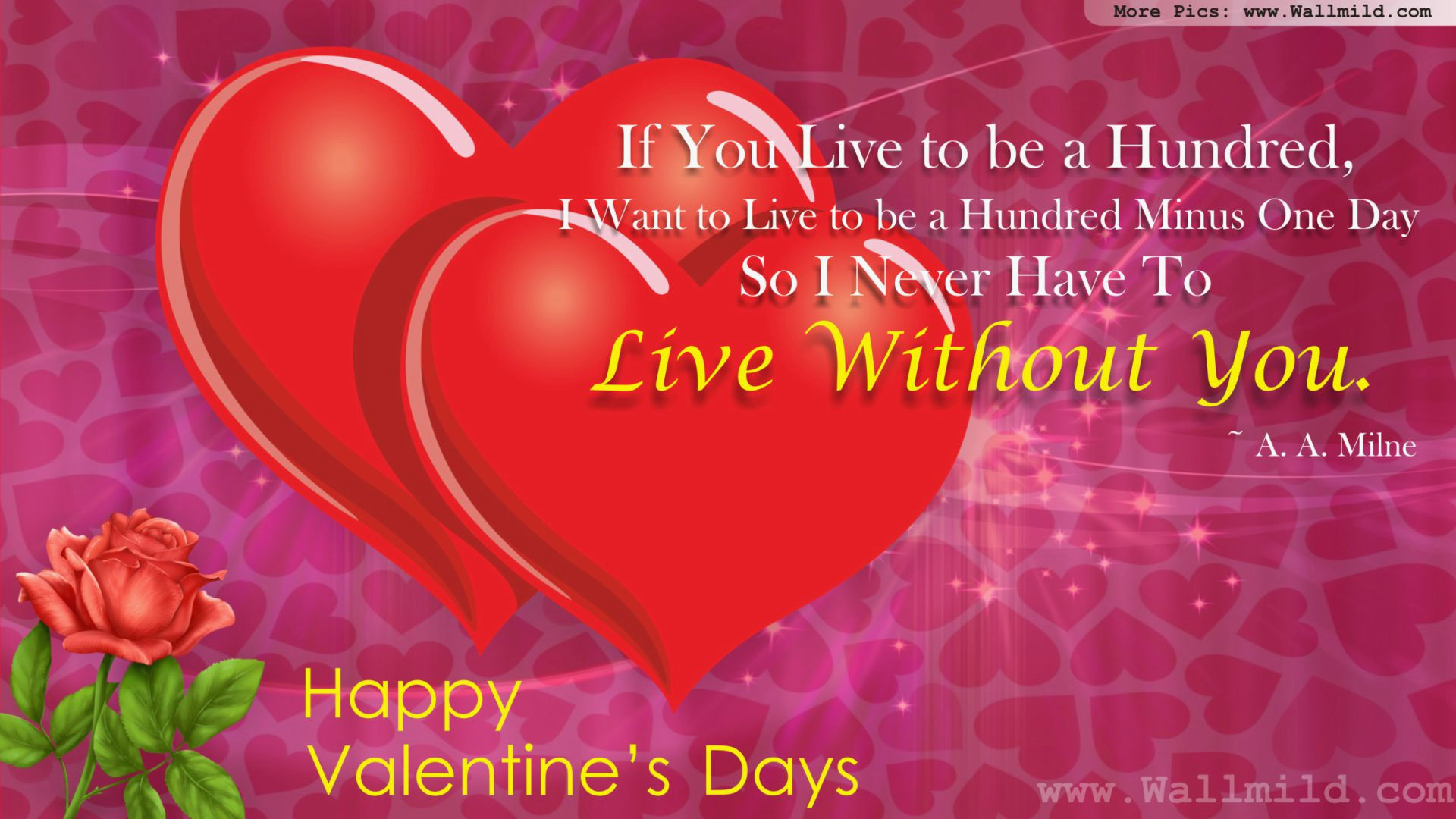 Love Wallpapers With Quotes Free Download Valentine Pics For