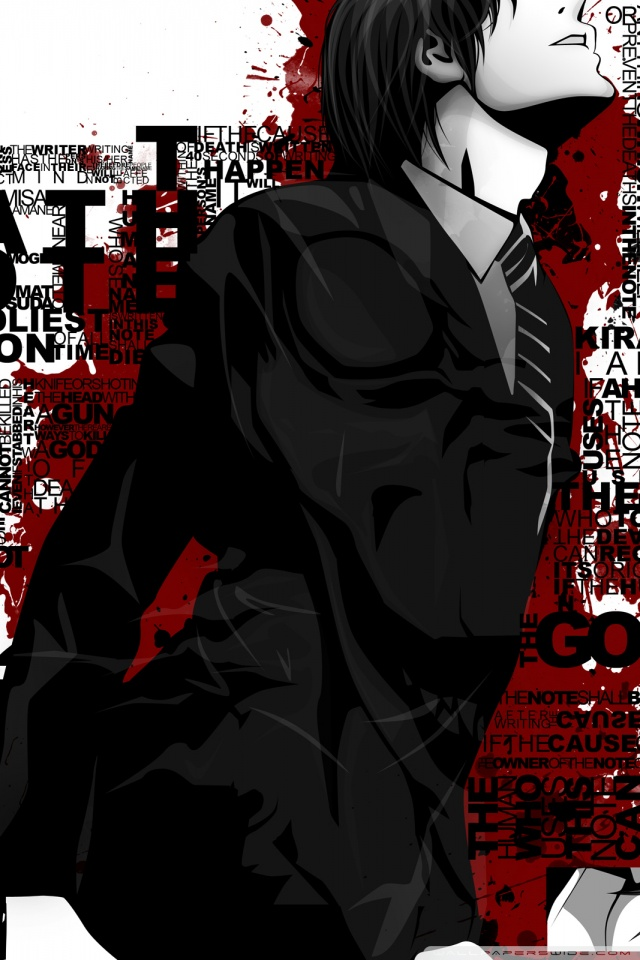 Mobile Hvga - Death Note Mobile Wallpaper Hd , HD Wallpaper & Backgrounds