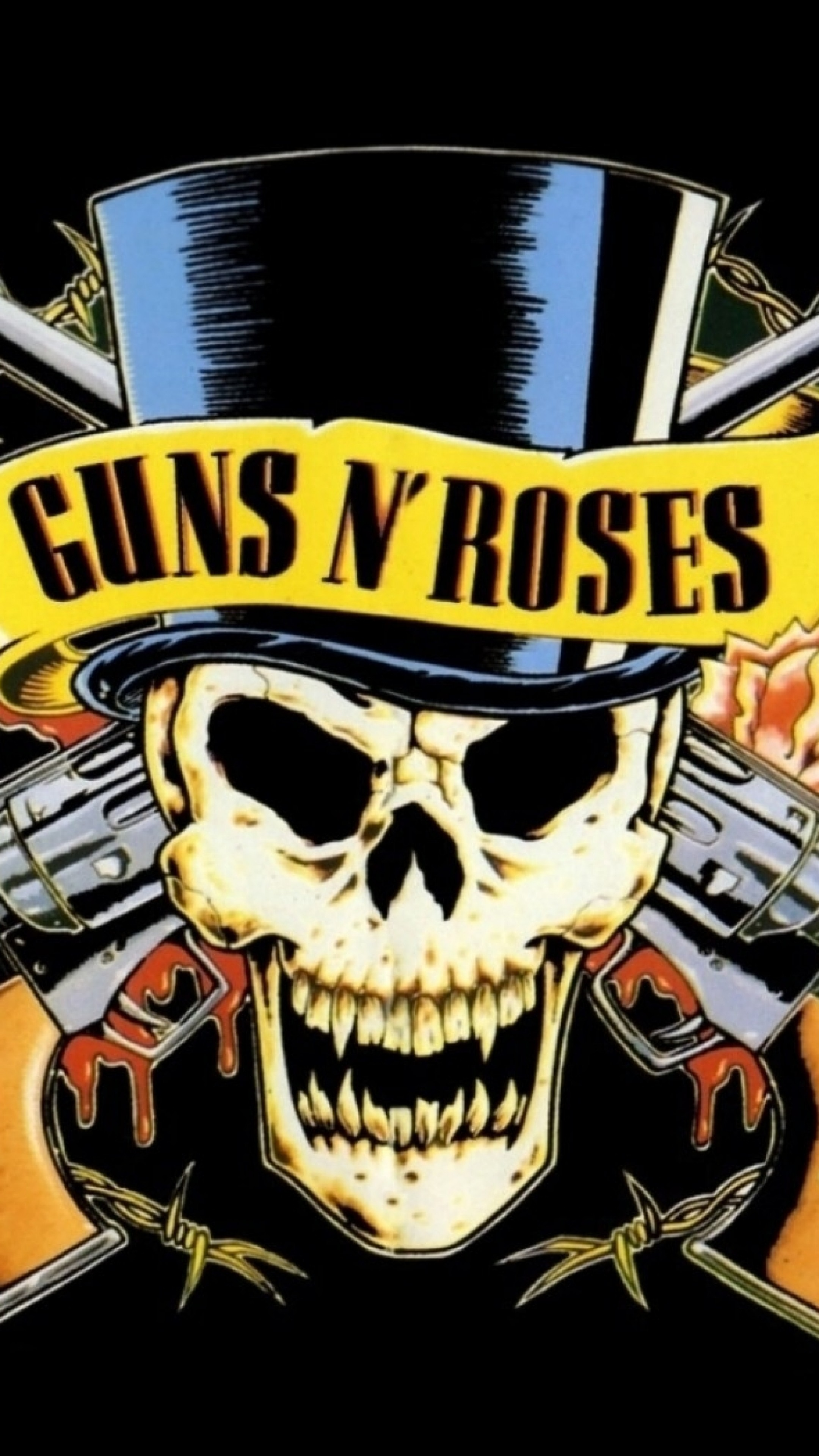 Preview Wallpaper Guns N Roses Revolvers Skull Cylinder
