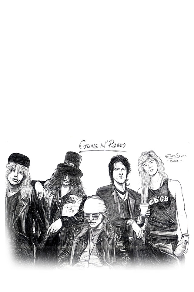 Com Apple Wallpaper Guns N Roses Illust Iphone4 Gun N