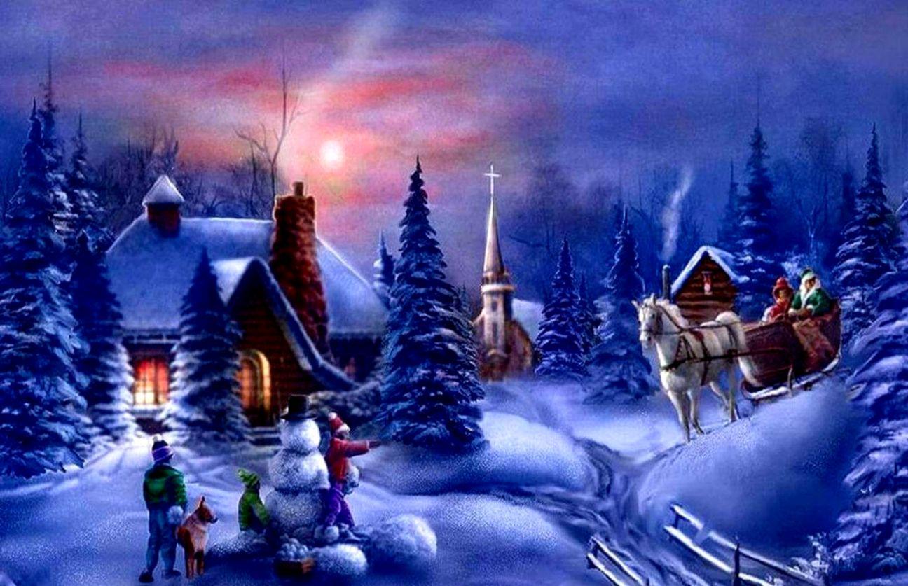 Free Christmas Wallpapers For Desktop Wallpaper Cave - Christmas Wallpaper Pc , HD Wallpaper & Backgrounds