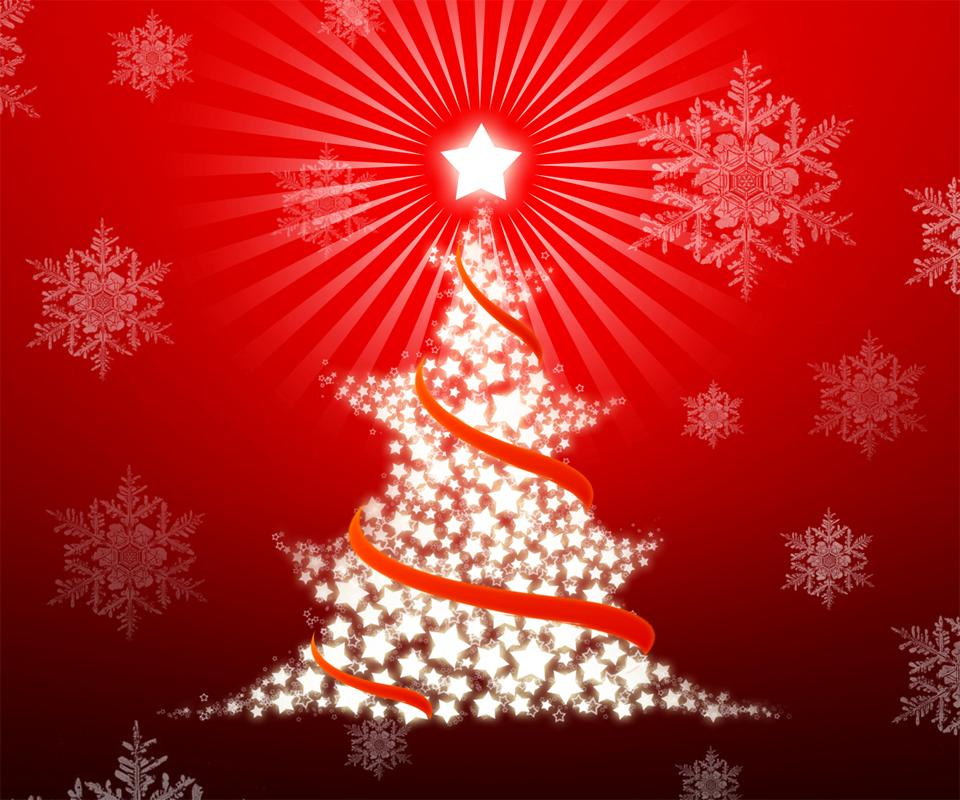 Free Christmas Wallpaper For Android - Christmas Tree Out Of Stars , HD Wallpaper & Backgrounds