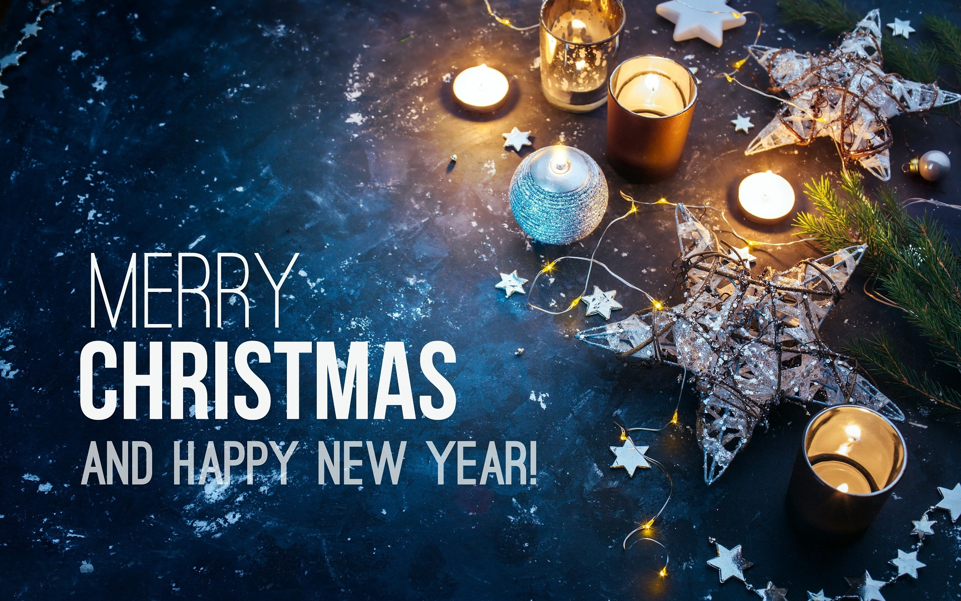 Christmas And A New Year Wishes , HD Wallpaper & Backgrounds