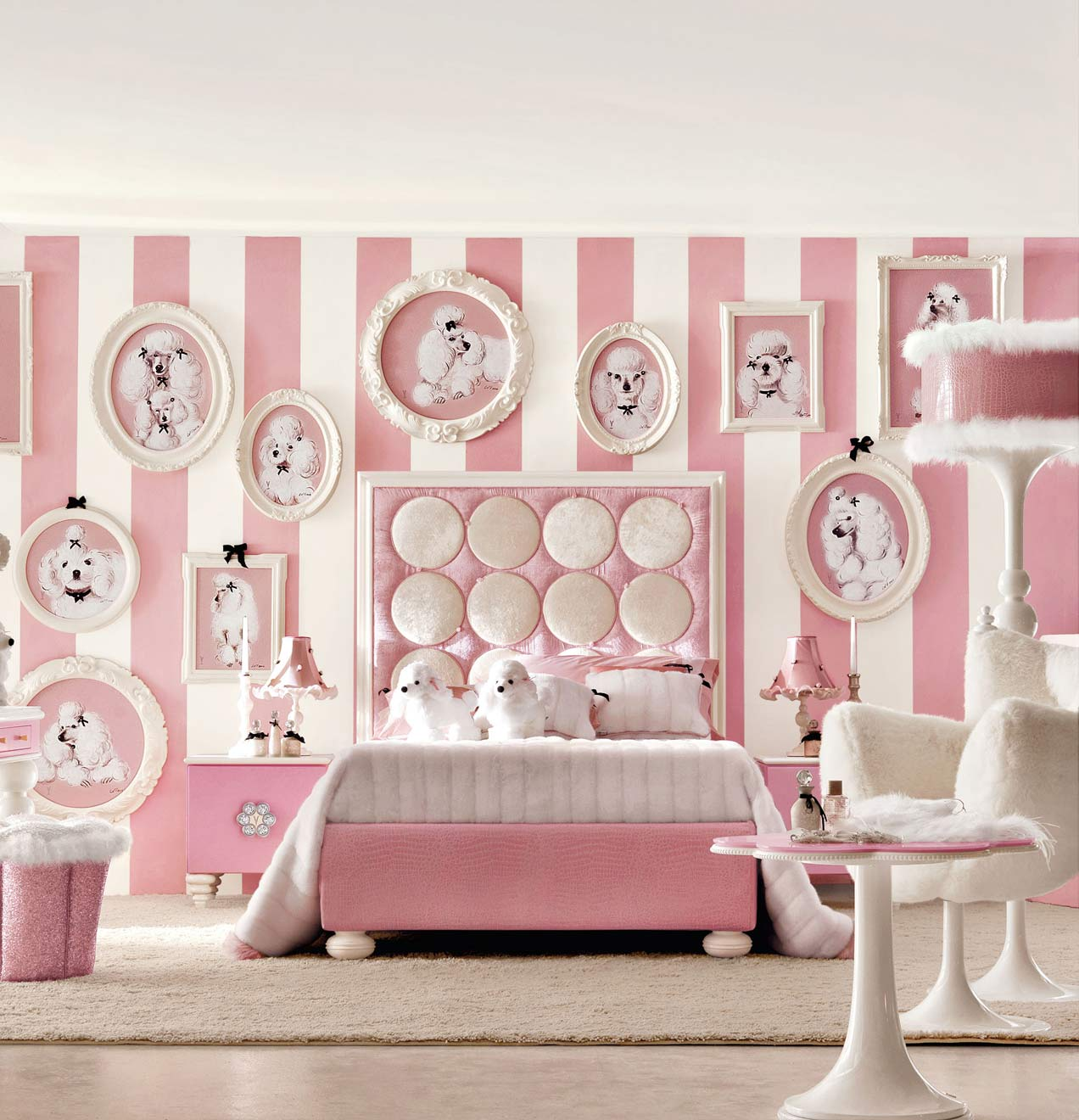 Extraordinary Pink And White Striped Wallpaper With - Pink ...
