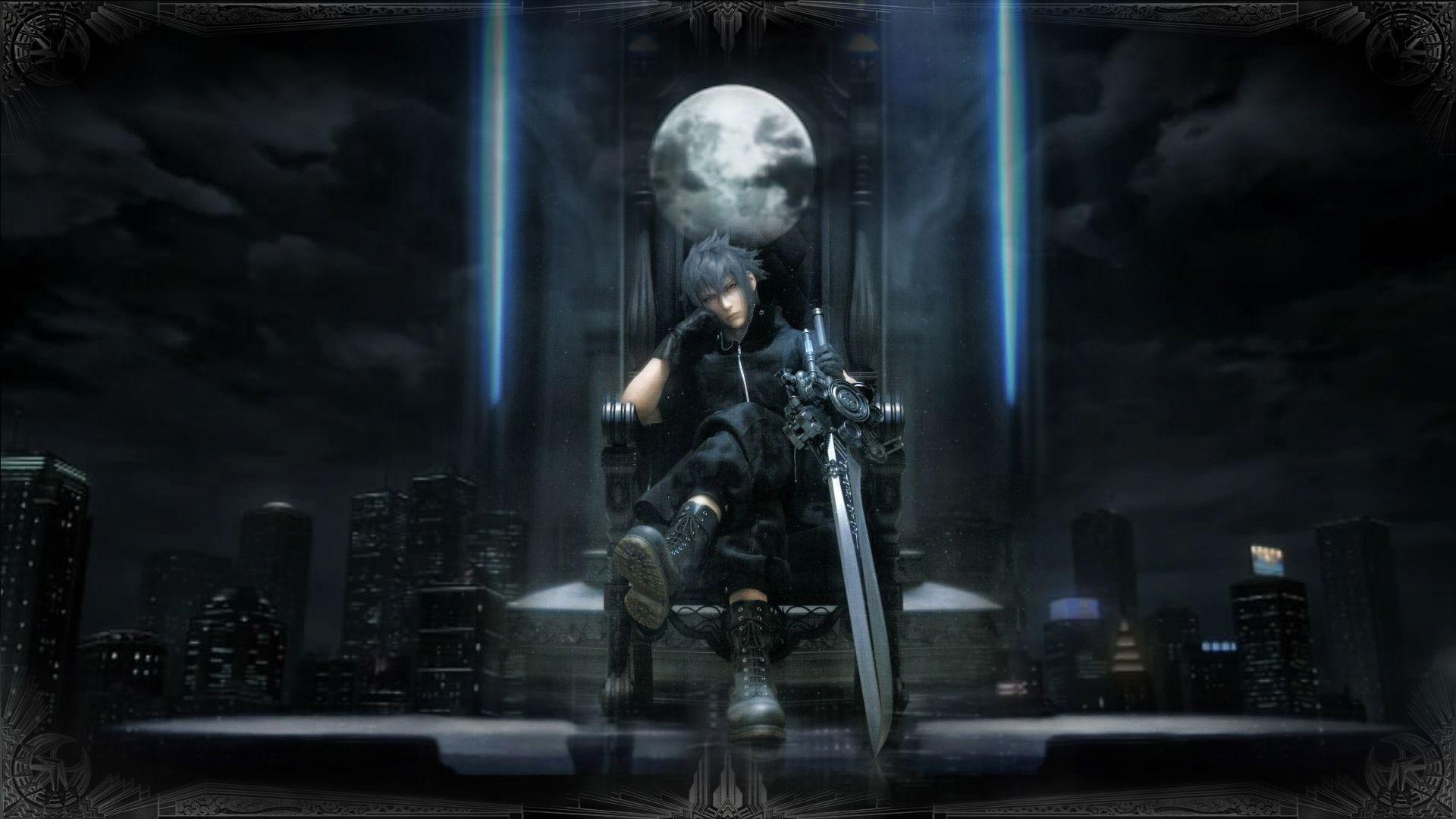 Final Fantasy Xv Wallpaper Final Fantasy 15 Noctis Throne