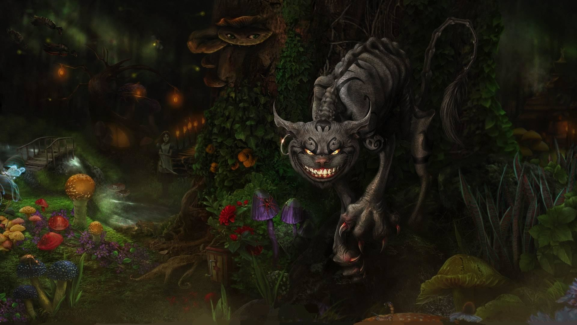 Latest Evil Cheshire Cat Wallpaper This Week Alice Madness