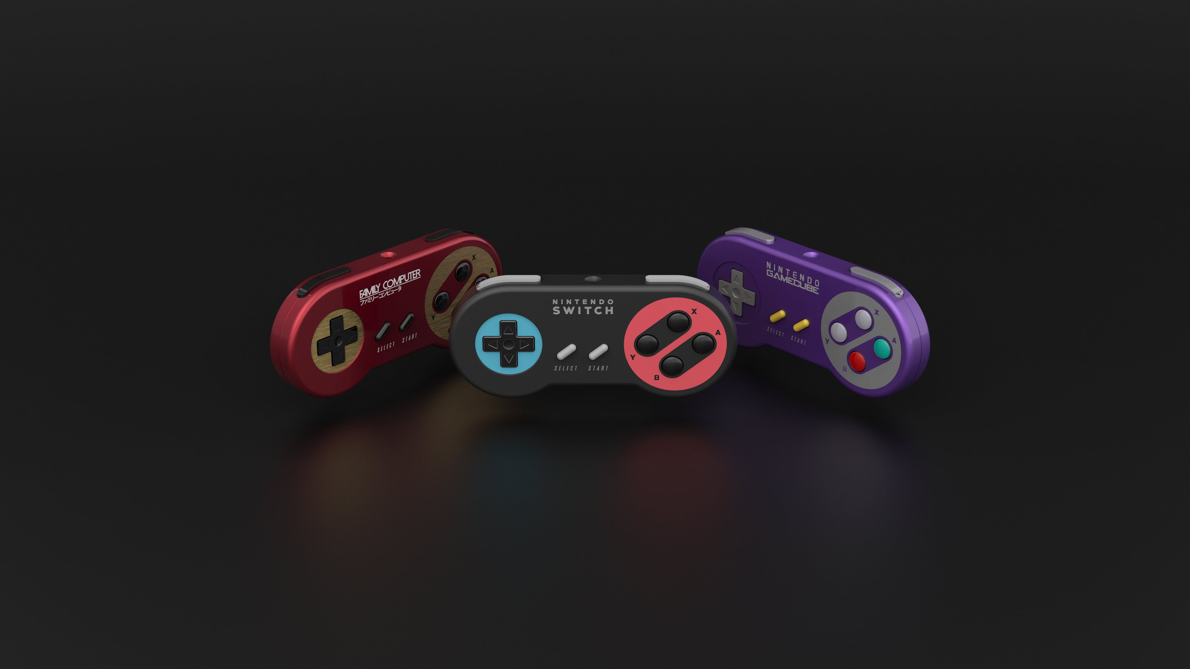 Three Assorted-colored Nintendo Switch Controller, - Nintendo Switch Wallpaper 4k , HD Wallpaper & Backgrounds