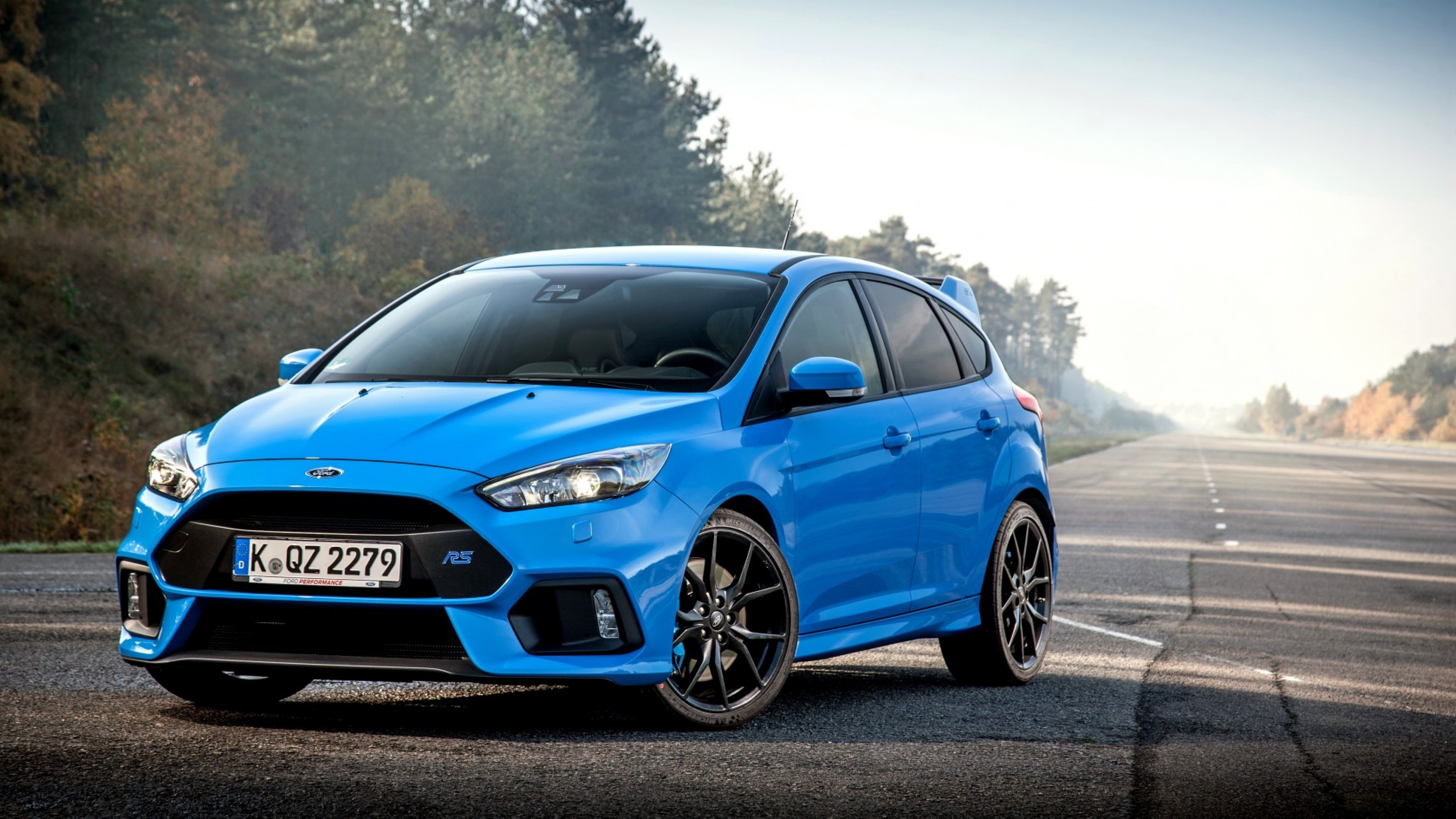 Preview Wallpaper Ford Focus Rs Blue Side View Ford