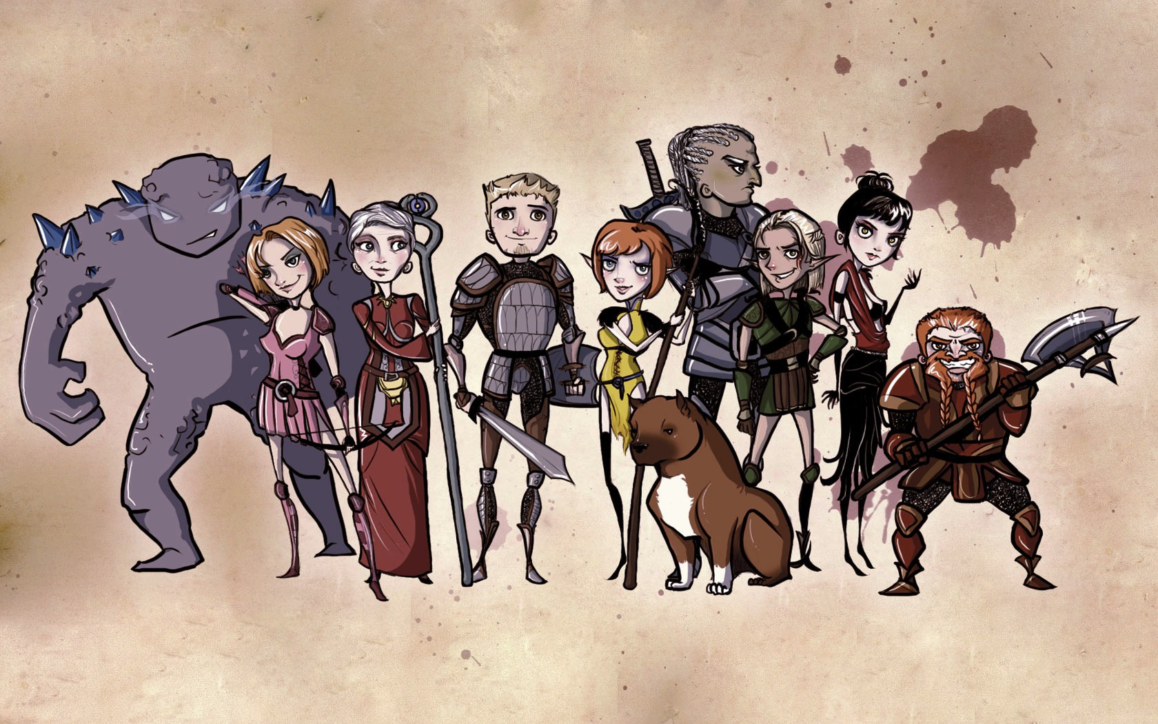 Wallpaper Chibi Dragon Age Origins Group 357379 Hd Wallpaper Backgrounds Download