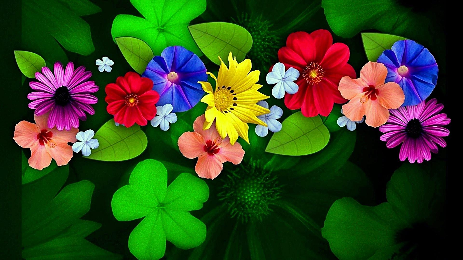 4k Flowers Wallpaper Green Flower Wallpaper Hd 357510 Hd Wallpaper Backgrounds Download