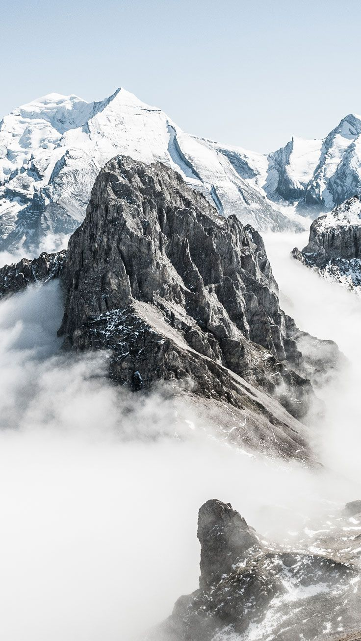 Snowy Mountains ☆ Preppy Original 31 Free Hd Iphone - Mountain Wallpaper 4k Iphone , HD Wallpaper & Backgrounds