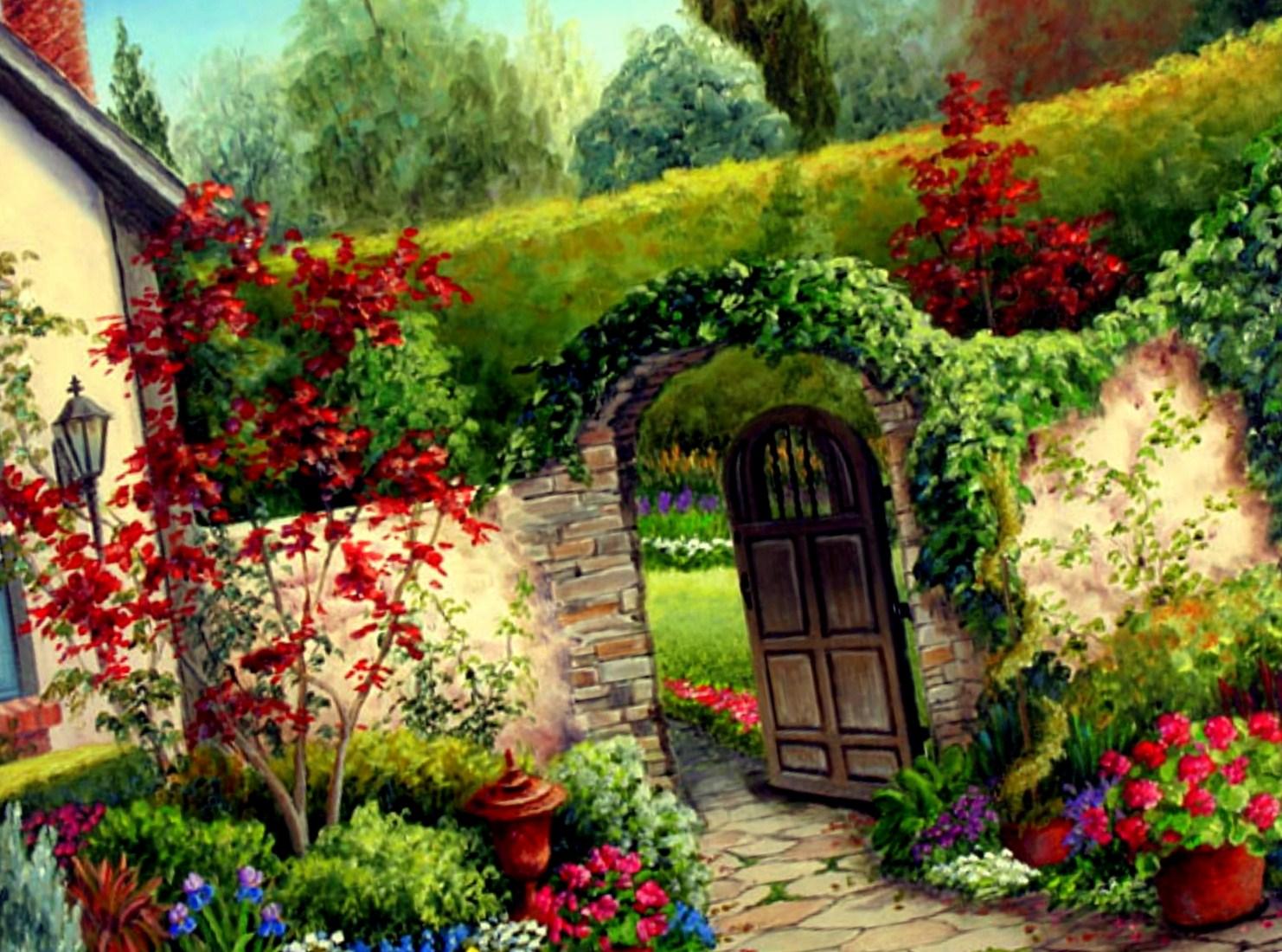 Garden Landscape Design Photos Garden Free Hd Wallpapers - Amazing Garden Of Flowers , HD Wallpaper & Backgrounds