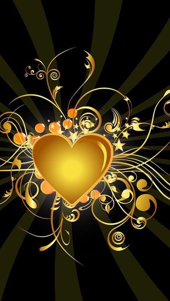Iphone Wallpaper Ideas - Gold Heart Wallpaper Iphone , HD Wallpaper & Backgrounds