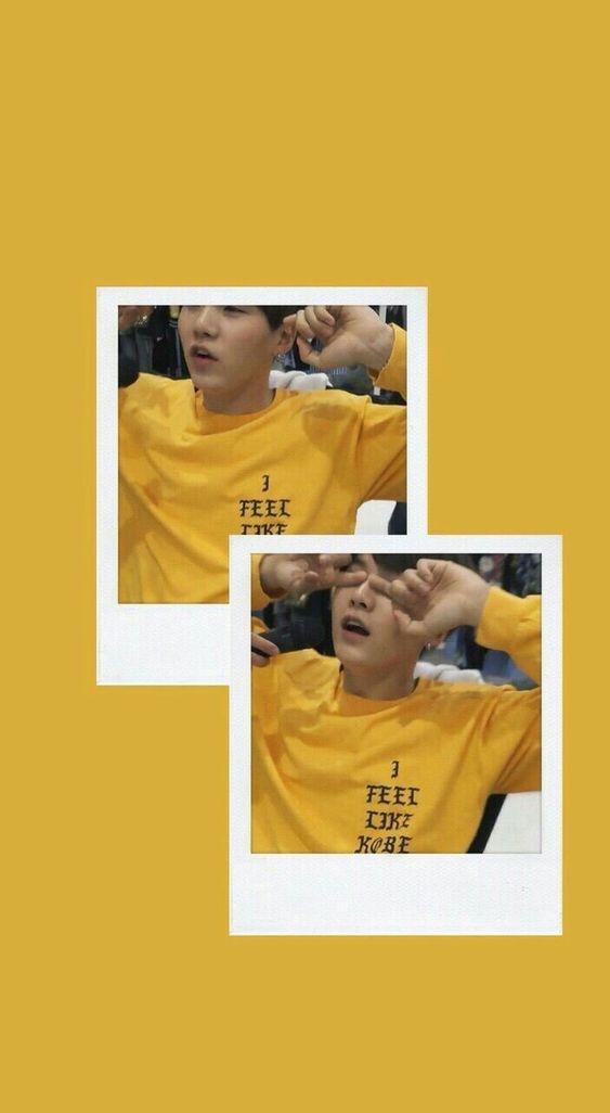 Yoongi Yellow Lockscreen , HD Wallpaper & Backgrounds