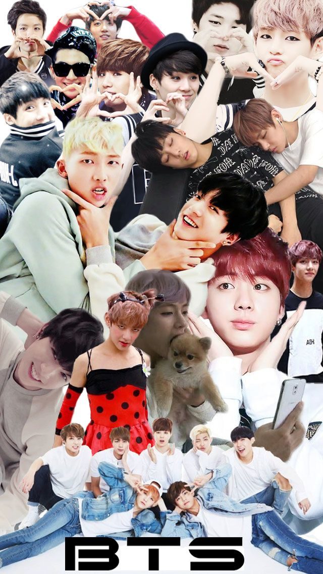 Wallpaper Photo Collage Bts Iphone Wallpaper Collage Bts Collage