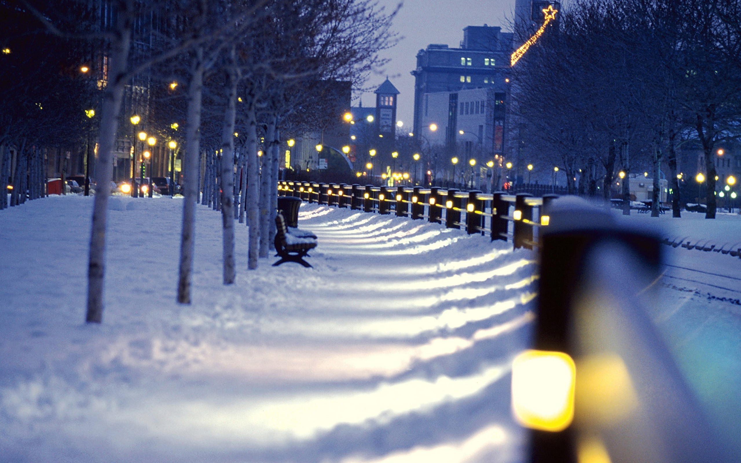 Cityscape City Winter Night Snow Wallpapers Hd Night City Winter 366183 Hd Wallpaper Backgrounds Download