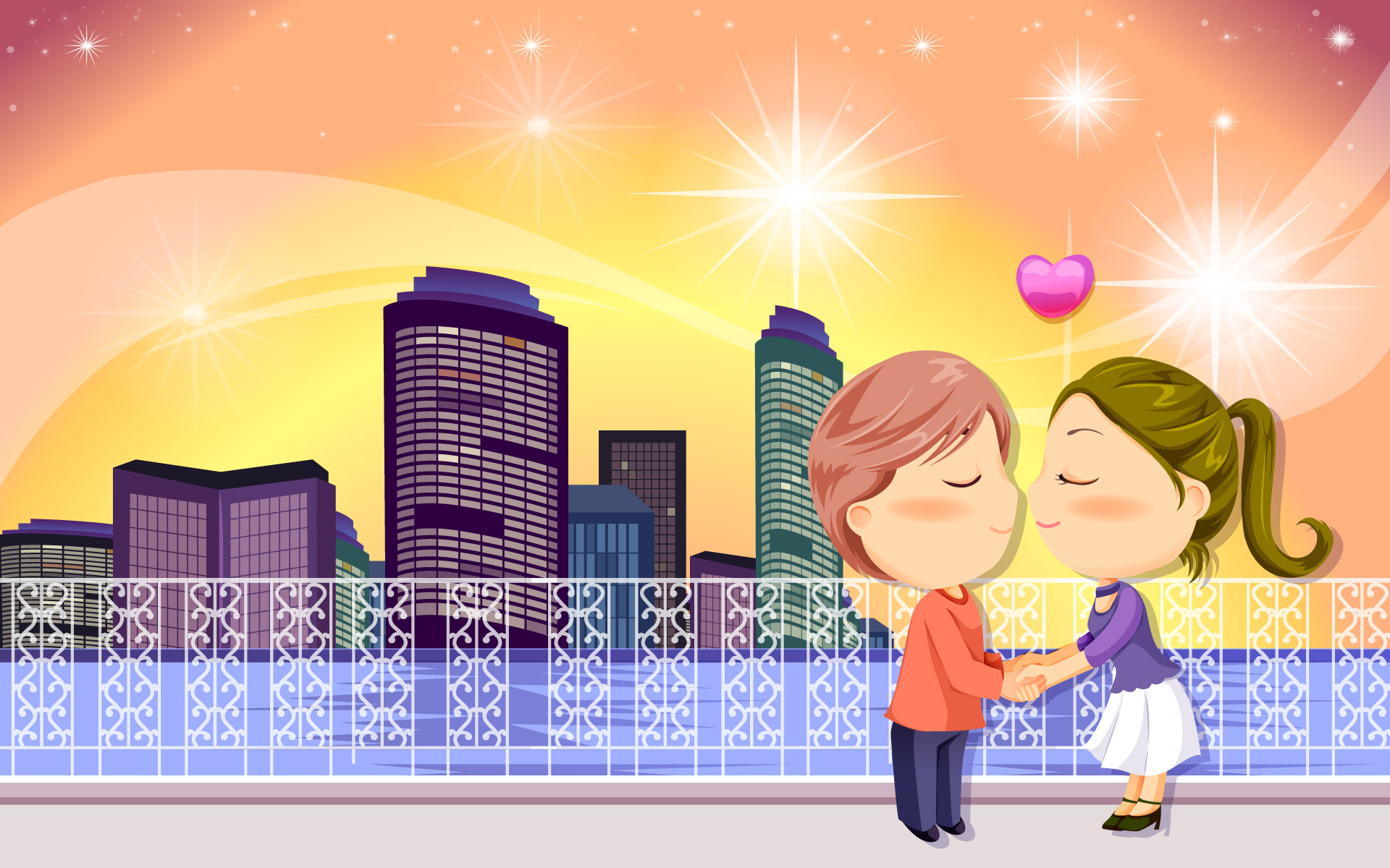 Adorable Love Wallpaper Romantic Cartoon Pic New Hd