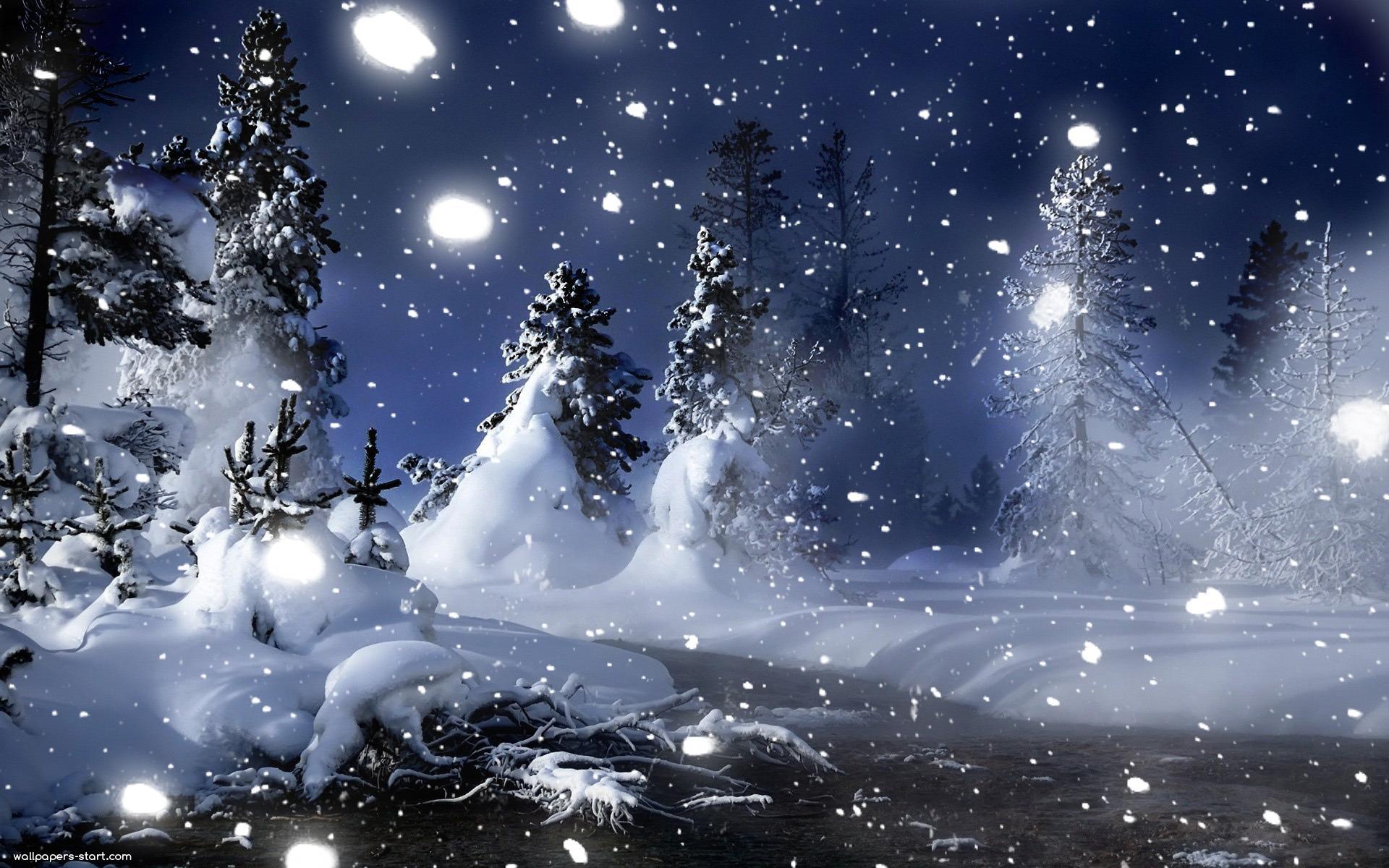 Romantic Winter Night Wallpapers Mobile Fond D écran