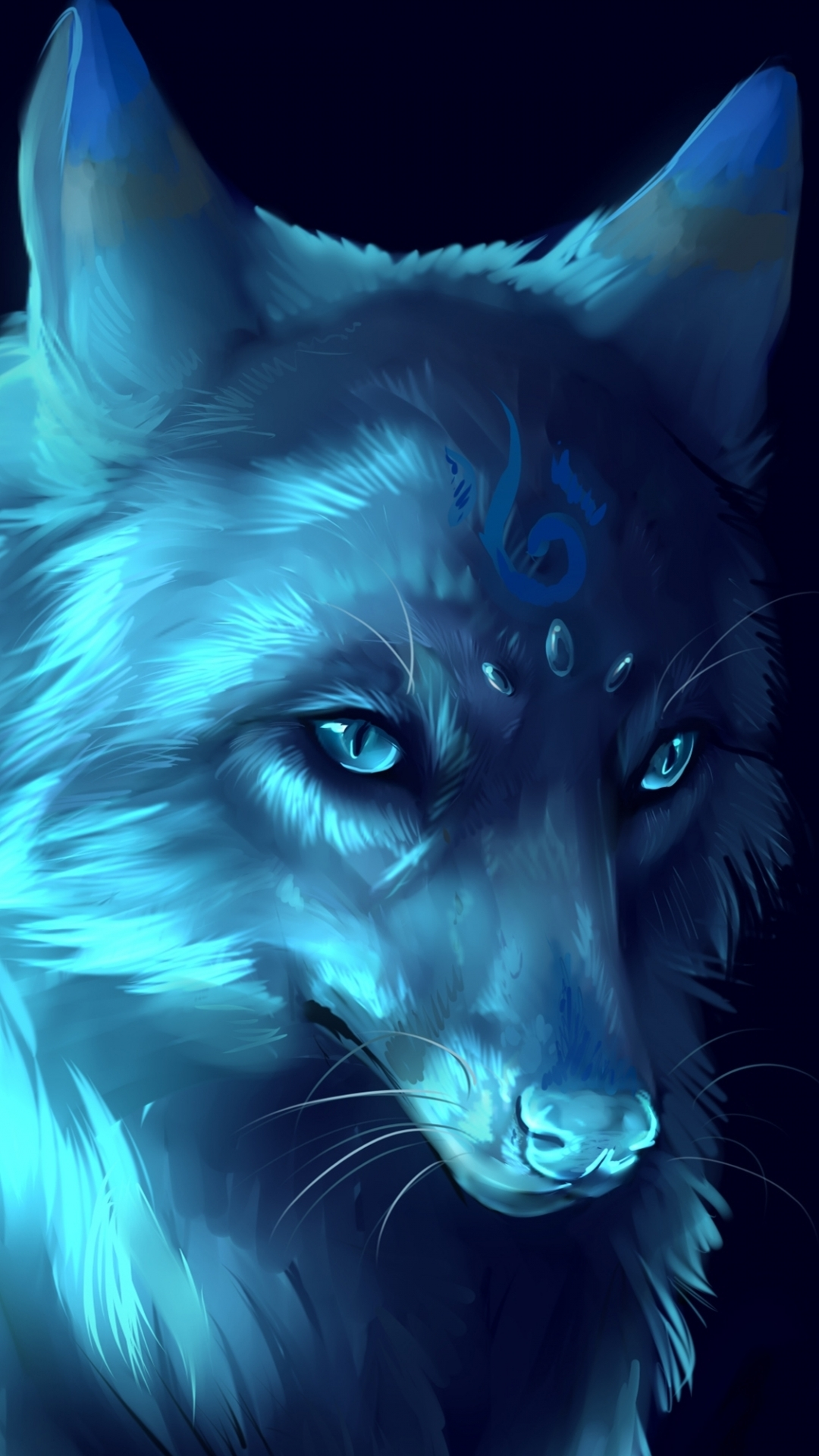 Awesome Phone Wallpaper Wolf - Animated Wolf Wallpaper Iphone , HD Wallpaper & Backgrounds