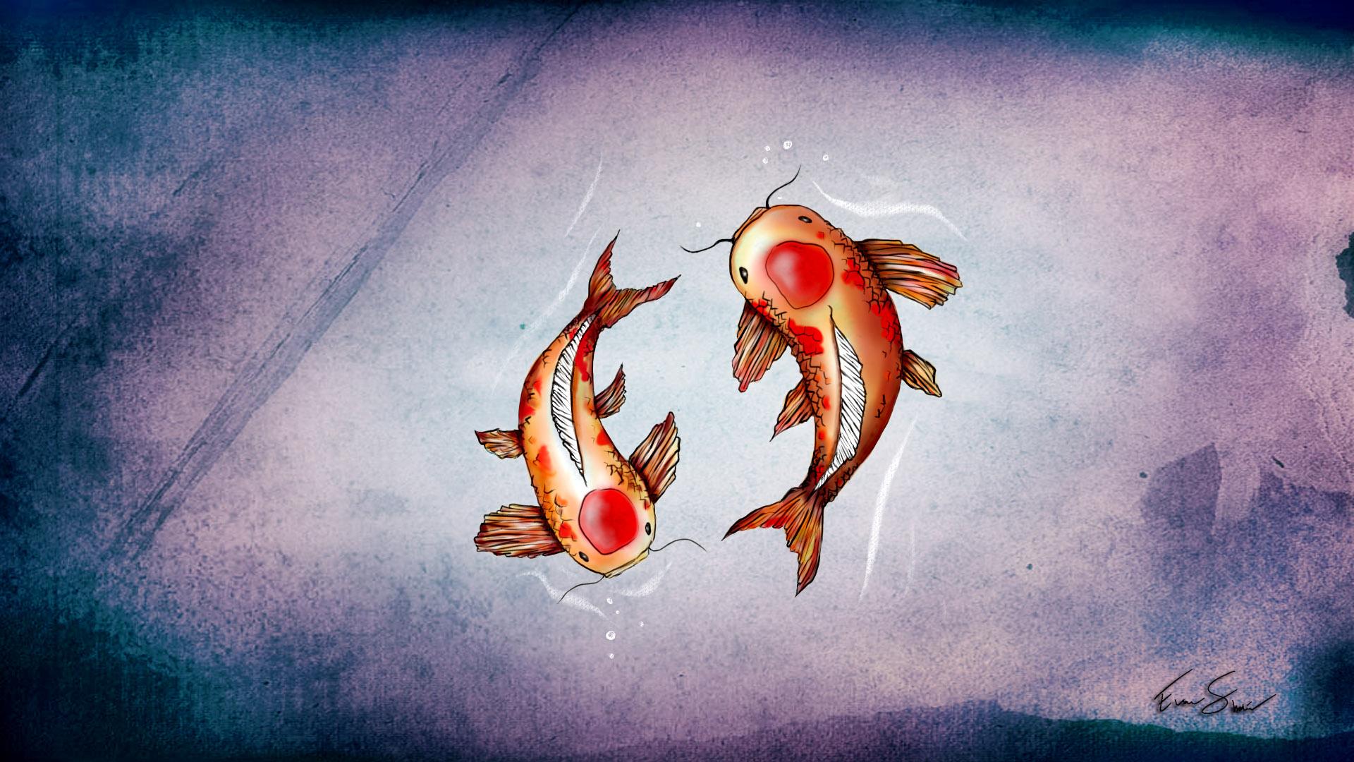 Hd Koi Fish Wallpaper , HD Wallpaper & Backgrounds