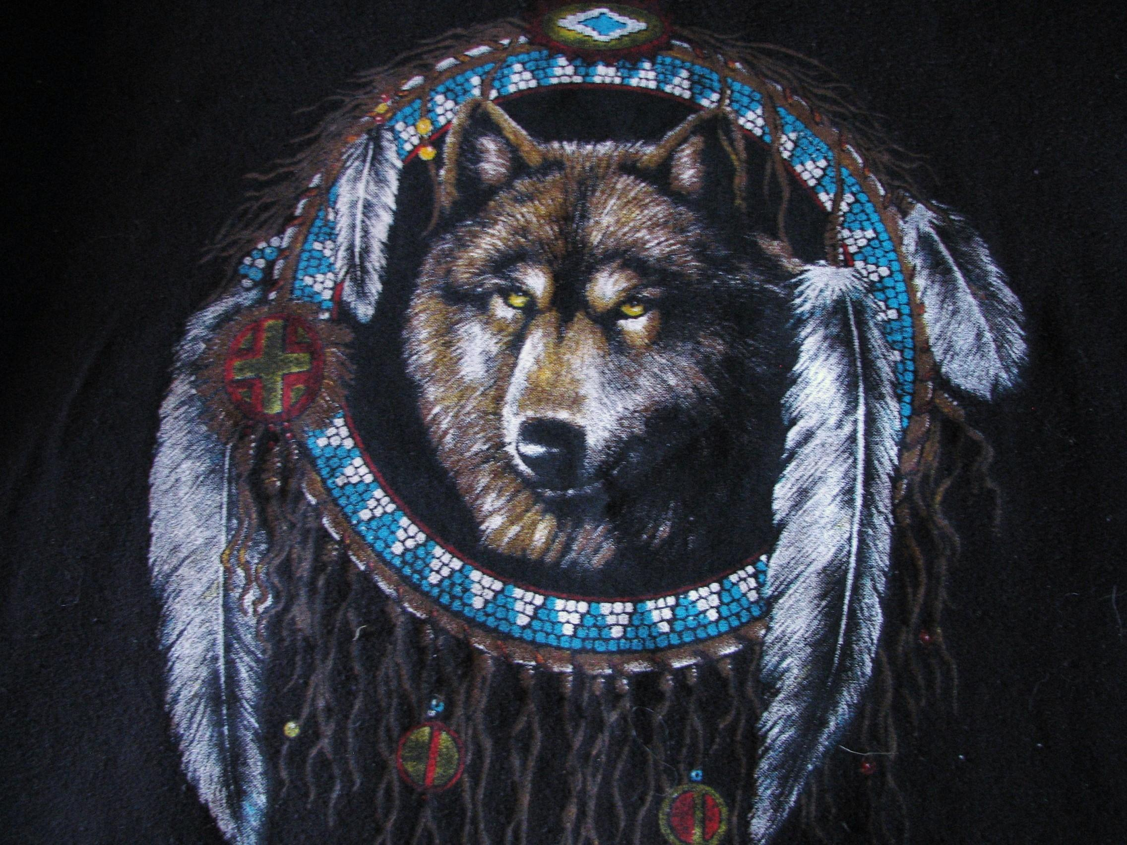 36 369583 native american wolf background