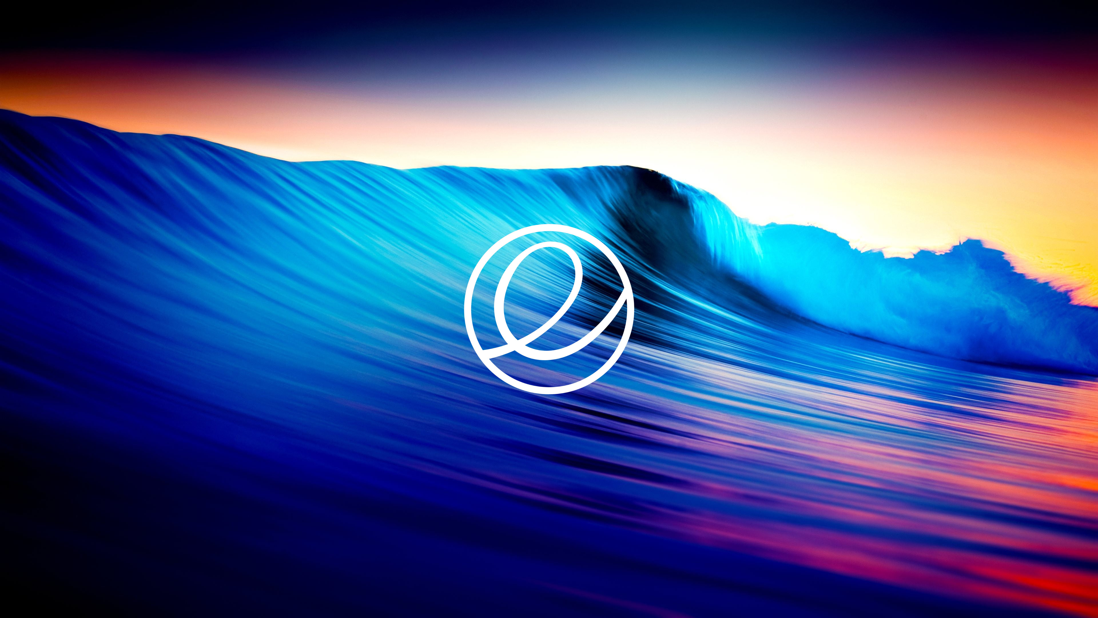Easy Elementary Os Logo Put On Ocean Wallpaper 4k Made