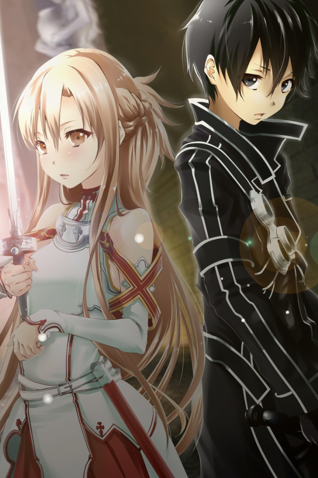 Sword Art Online - Sword Art Online Asuna And Kirito Phone , HD Wallpaper & Backgrounds