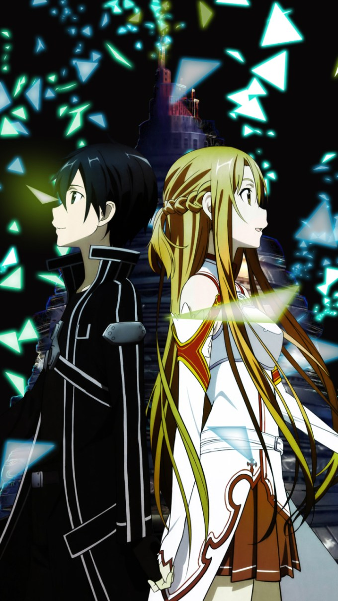 Sword Art Online Wallpaper Iphone Kirito And Asuna Aincrad