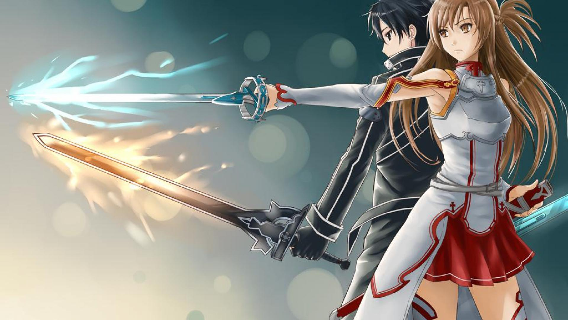 Foto Kirito Dan Asuna download - sword art online asuna and kirito swords (#373269