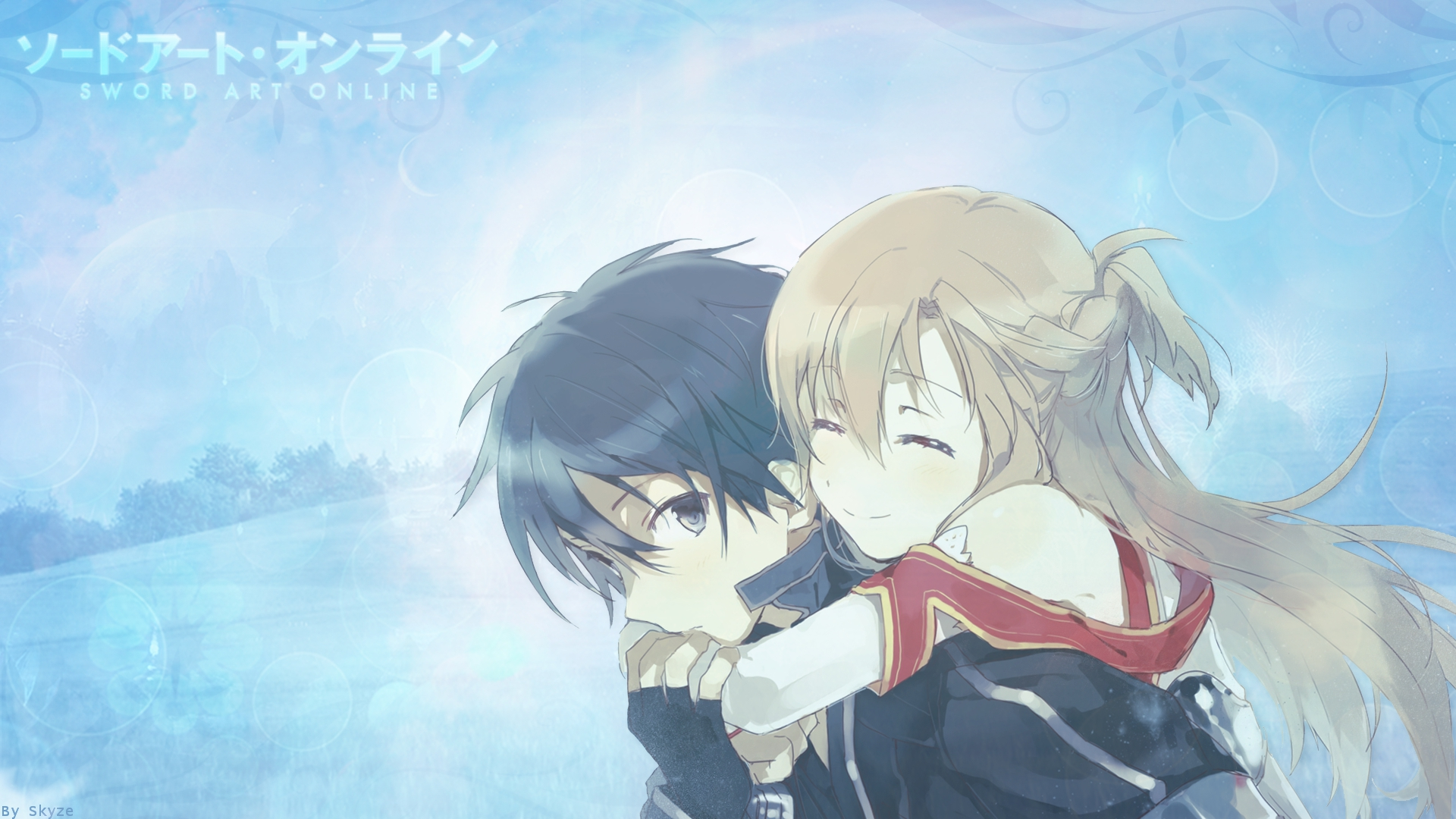 Foto Kirito Dan Asuna download wallpaper from anime sword art online with - cute