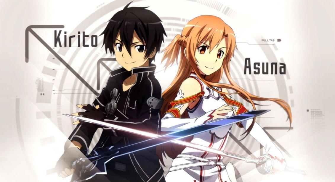 Sword Art Online: Kirito with his wife Asuna