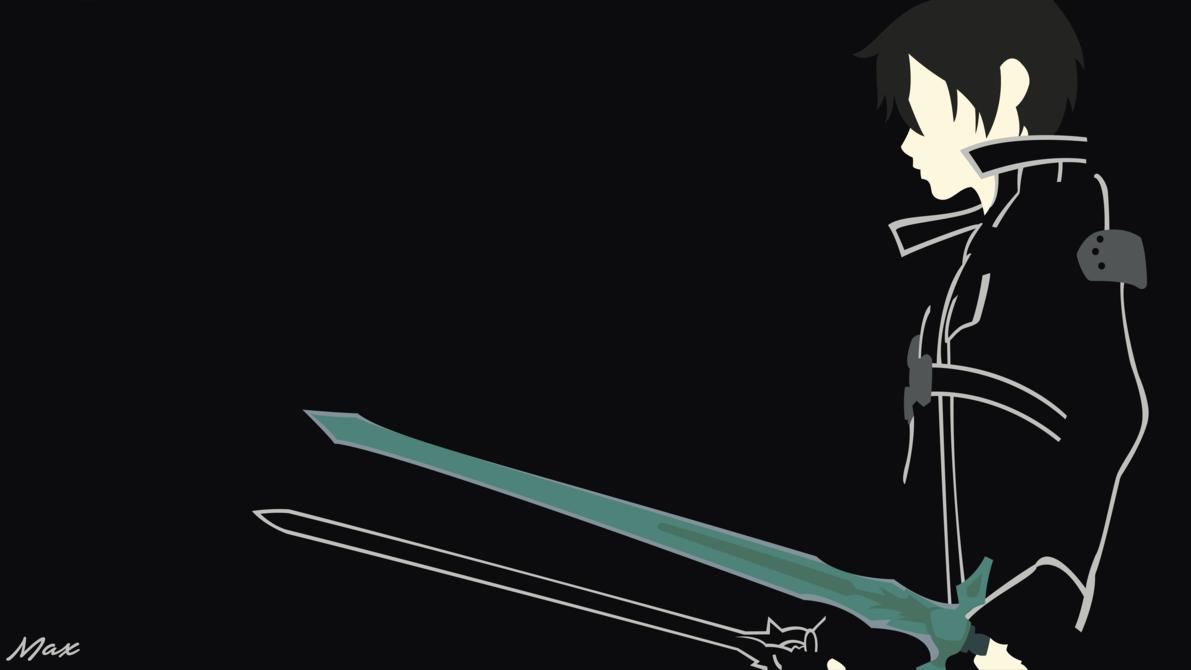 Kirito Black Swordsman Minimal Wallpaper By Max028 Sword