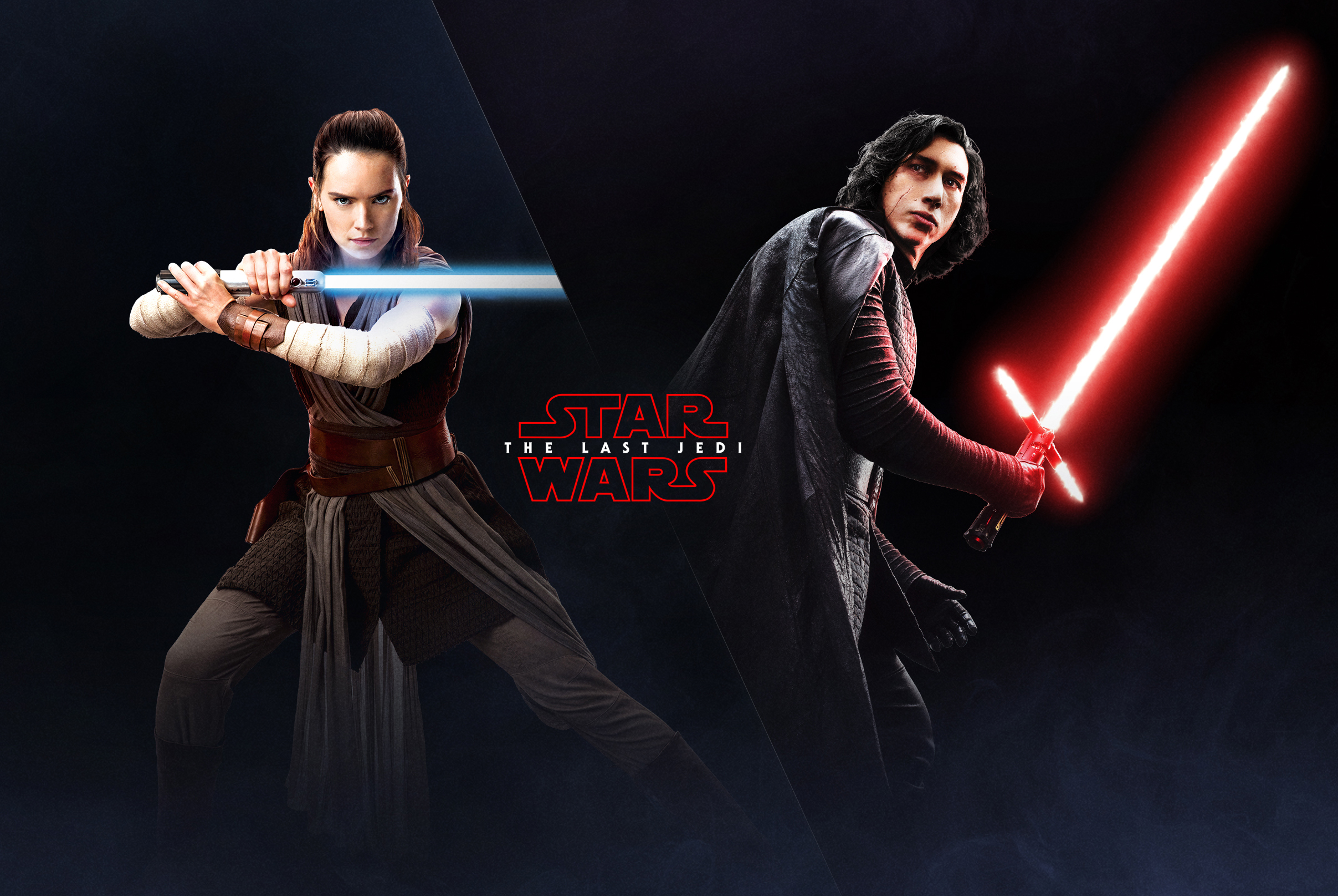 The Last Jedi Wallpaper Rey And Kylo Ren Ea Battlefront