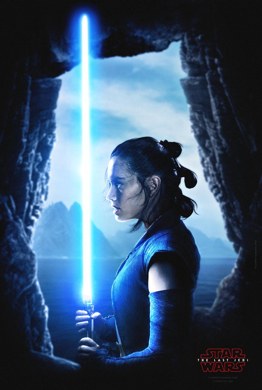 #lightsaber, #rey , #star Wars - Last Jedi Rey Poster , HD Wallpaper & Backgrounds