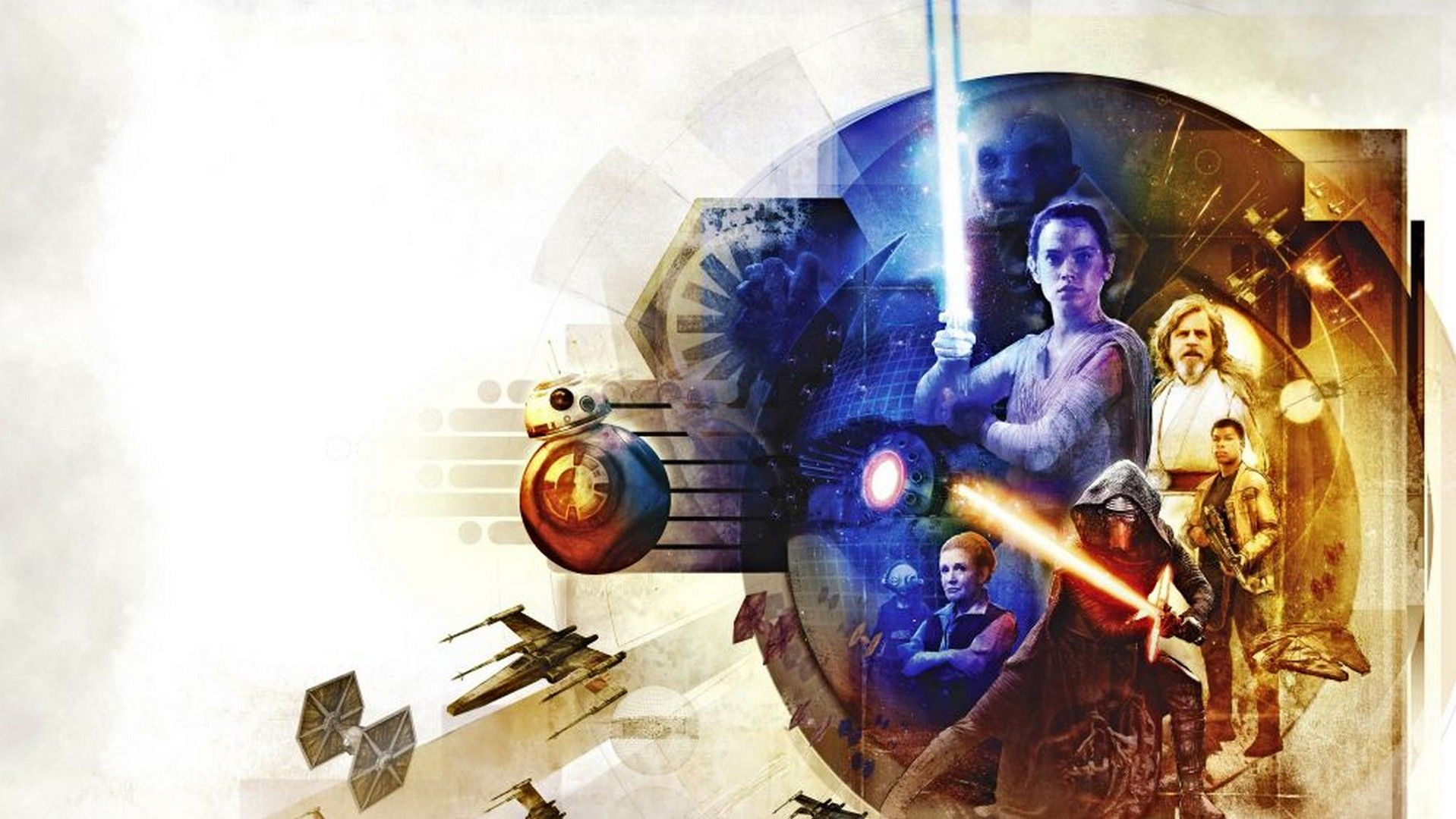 Hd Star Wars - Star Wars The Last Jedi Art , HD Wallpaper & Backgrounds