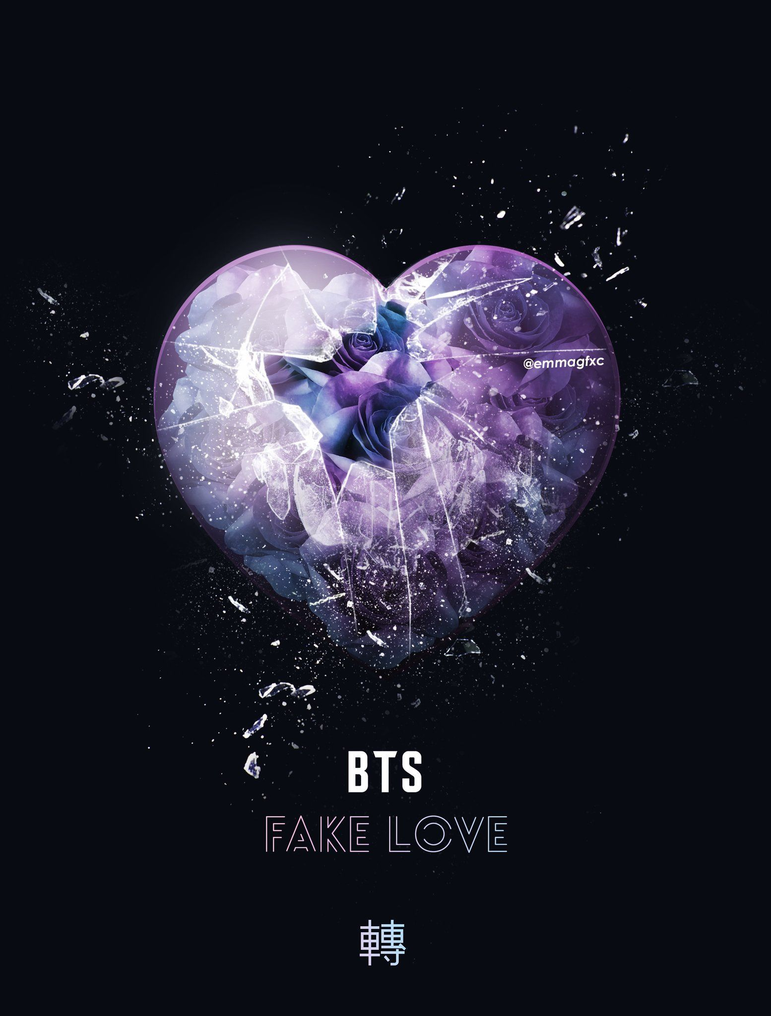 Love Kpop Wallpapers Top Free Backgrounds Wallpaperaccess - Bts Fake Love Lyrics , HD Wallpaper & Backgrounds