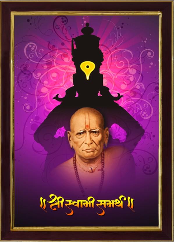Saf Shri Swami Samarth Ji Sparkle Coated Digital Reprint - Full Hd Swami Samarth , HD Wallpaper & Backgrounds