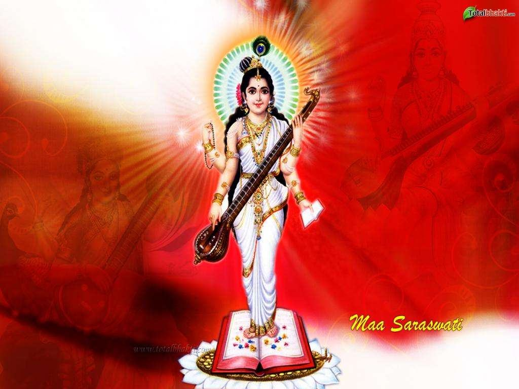 Download Free Wallpaper - Saraswati Mata Hd Full , HD Wallpaper & Backgrounds