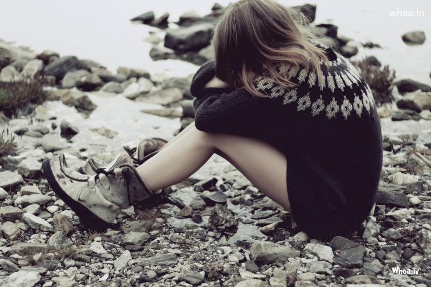 Heart Touching Sad Girl , HD Wallpaper & Backgrounds